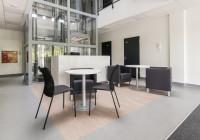 Meble TOBO do holu głównego: lada recepcyjna, stoliki , krzesła i fotele tapicerowane